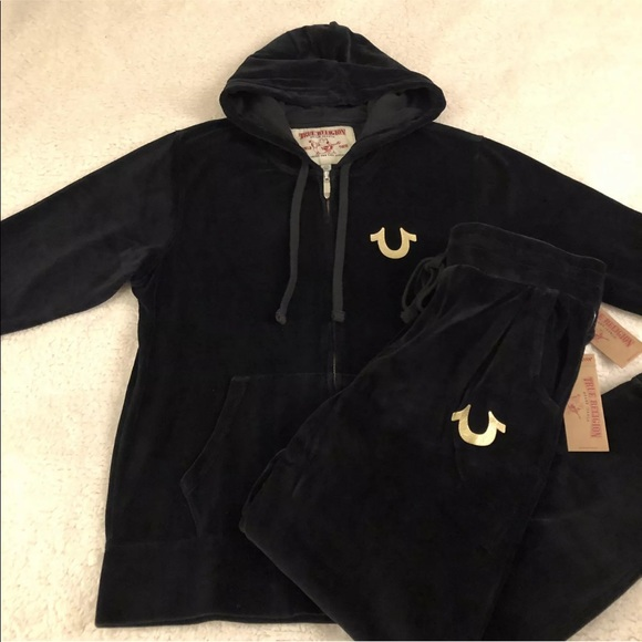 6dea4d538 True Religion Shirts | Mens Velour Sweatsuit Black | Poshmark
